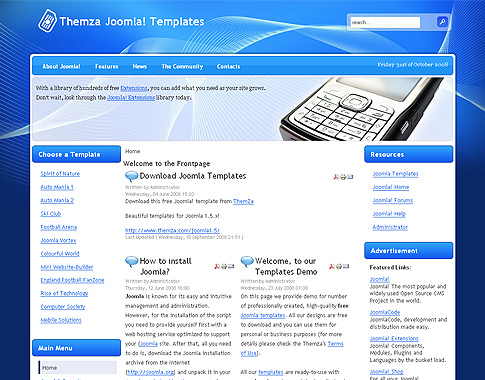 Free templates blog joomla 15x new joomla template dedicated download mobile solutions maxwellsz