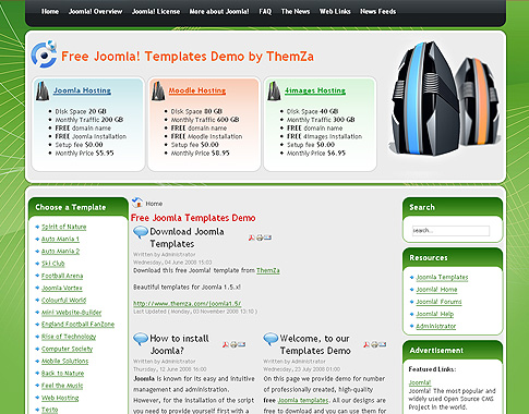 Web Hosting Joomla template