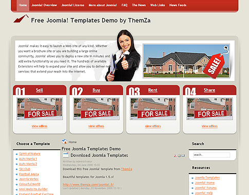 free templates blog » joomla 1.5.x » real estate free joomla, Powerpoint templates
