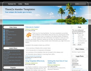 Exotic Travel template released