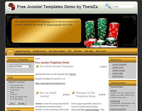Free Casino Joomla Template