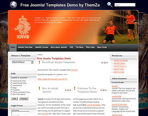free templates blog » joomla 1.5.x » world cup heroes and world, Powerpoint templates
