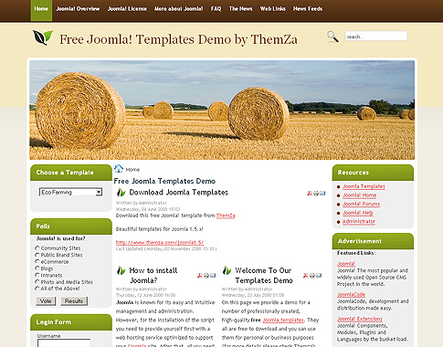 Template stylusson for joomla 1. 5 • rizvn.