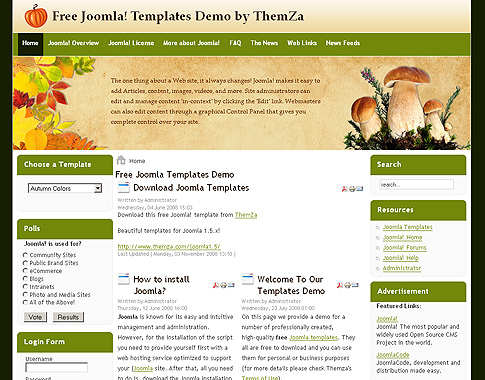 free templates blog » joomla 1.5.x » saturated 'autumn colors' in, Powerpoint templates